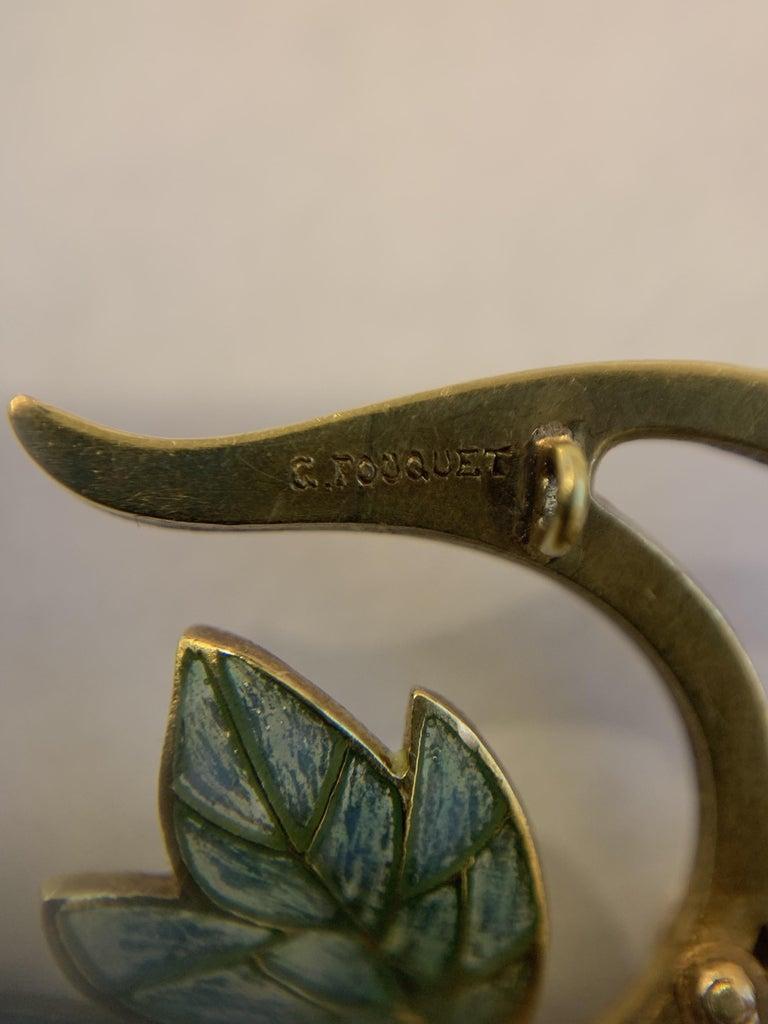Georges Fouquet French Art Nouveau Opal, Pearl, Gold and Enamel Pendant For Sale 1