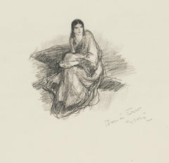 Une Femme - Original Lithograph by Georges Gobo