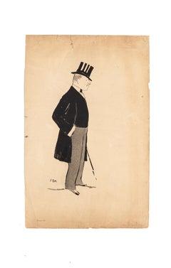 Gentlemen - Original Photolithograph by SEM - Early 20th Century