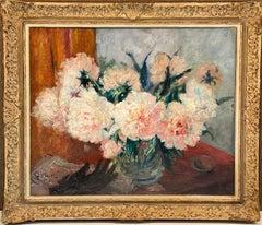 Antique French Impressionist Floral Still Life - Flowers - école de Paris Monet