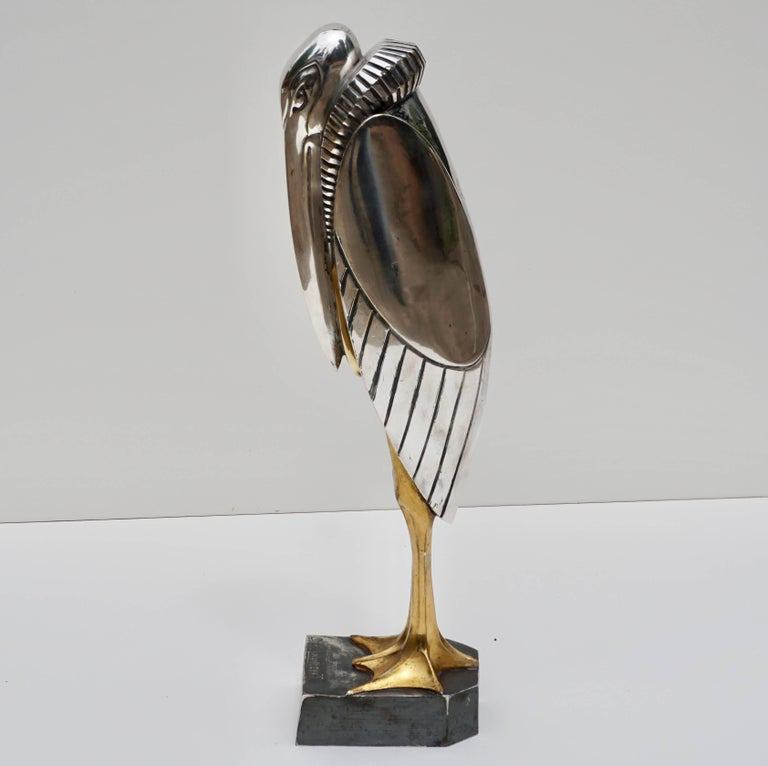Mid-20th Century Georges H Laurent 'French, 20th Century' Art Deco Bronze Marabout, 1930