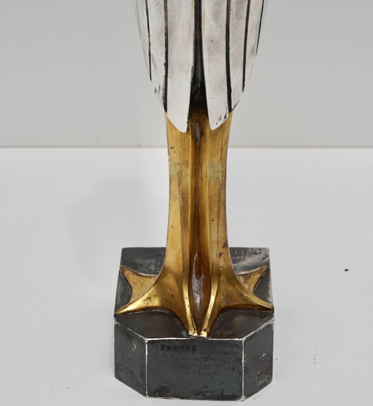 Georges H Laurent 'French, 20th Century' Art Deco Bronze Marabout, 1930 2