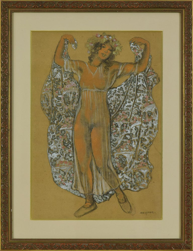 Oriental Dancer by Georges Manzana Pissarro - Post-Impressionist, Orientalist  - Mixed Media Art by Georges Henri Manzana Pissarro
