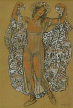 Oriental Dancer by Georges Manzana Pissarro - Post-Impressionist, Orientalist