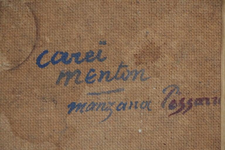 Carei - Menton - 20th Century Oil, House in Mountain Landscape by G H M Pissarro For Sale 2