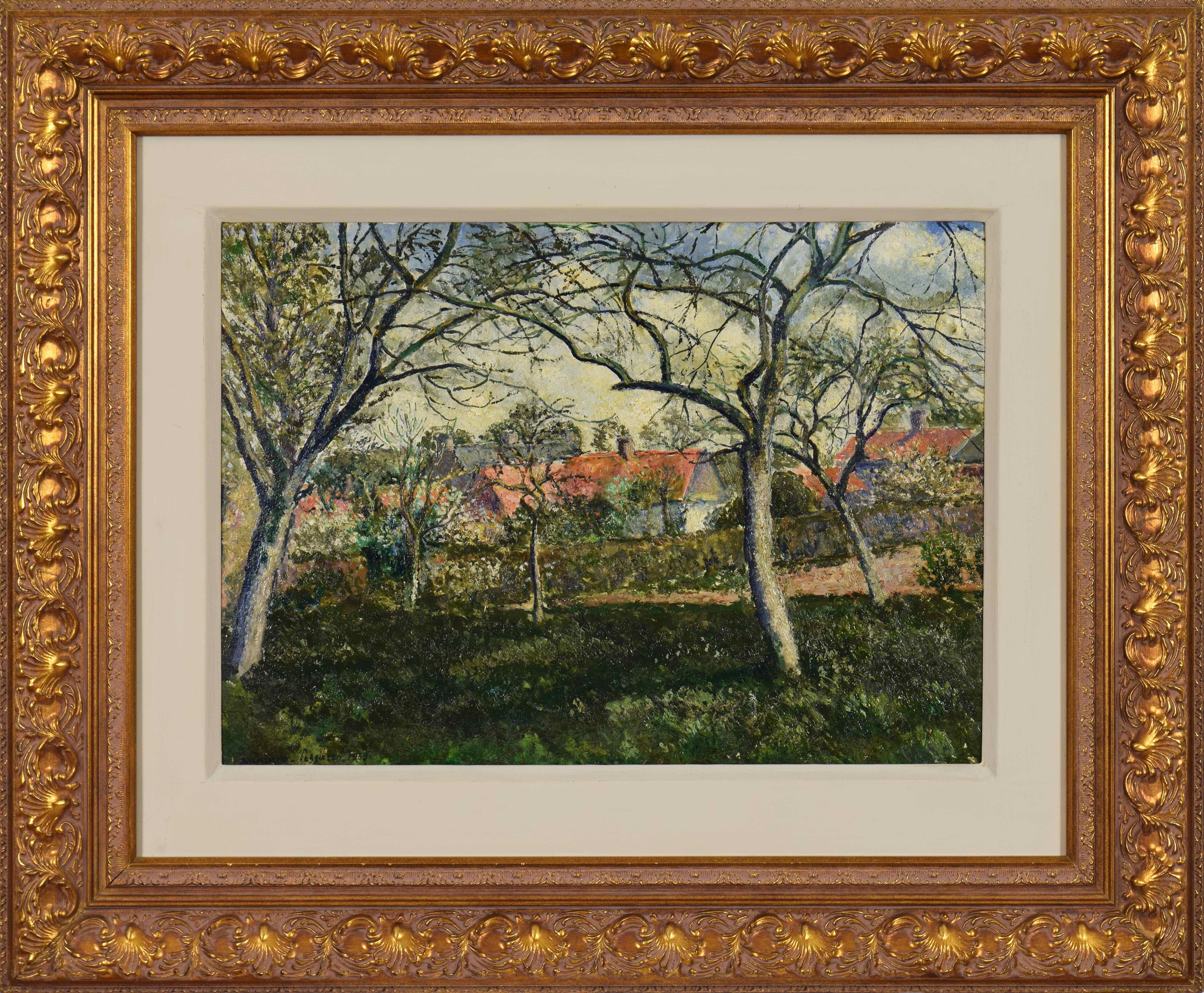 Landscape painting by Georges Manzana Pissarro titled Toits Rouges à Menton