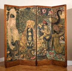 Original free standing screen Les Mille et une Nuits by Georges Manzana Pissarro