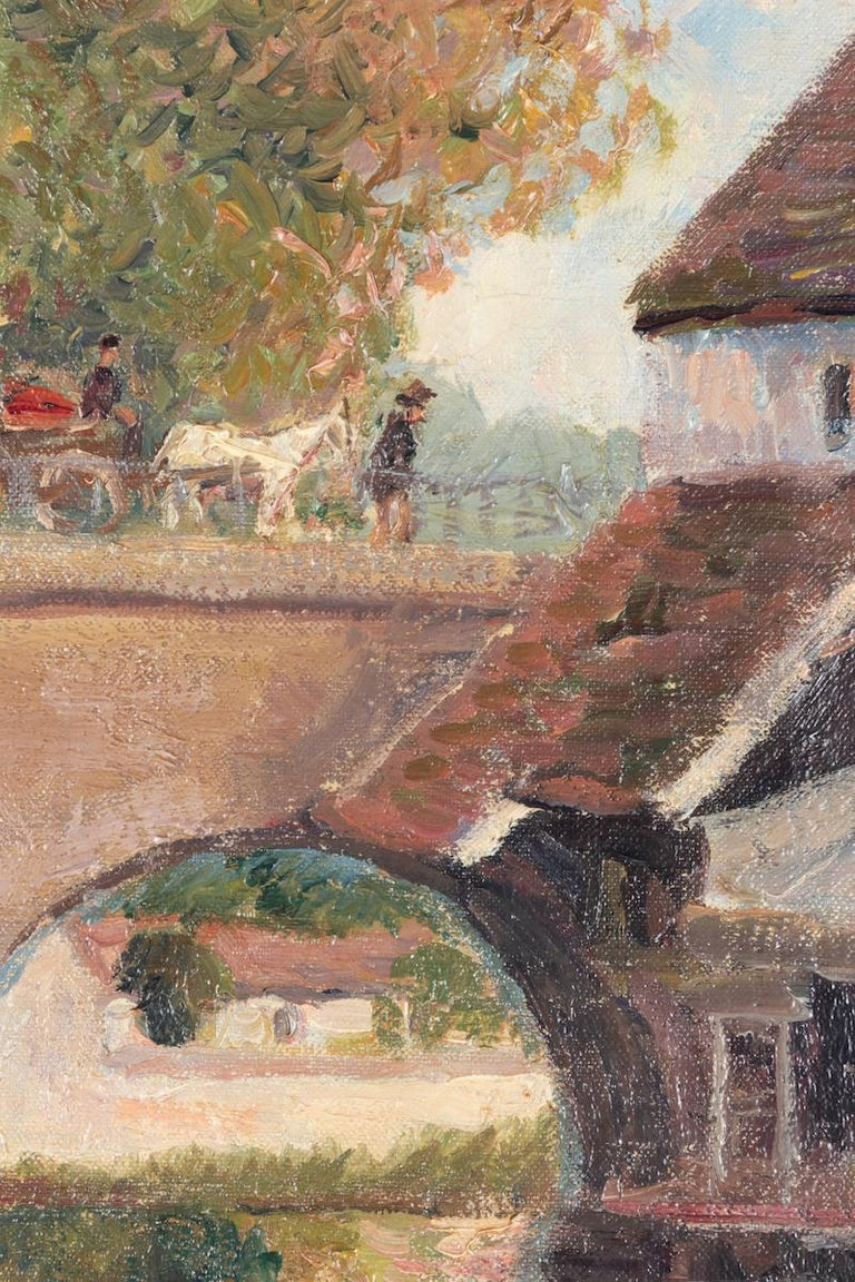 Petit Lavoir du Pont Pierre, Morêt-sur-Loing by Georges Manzana Pissarro, 1902 - Post-Impressionist Painting by Georges Henri Manzana Pissarro