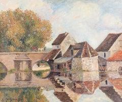 Petit Lavoir du Pont Pierre, Morêt-sur-Loing by Georges Manzana Pissarro, 1902