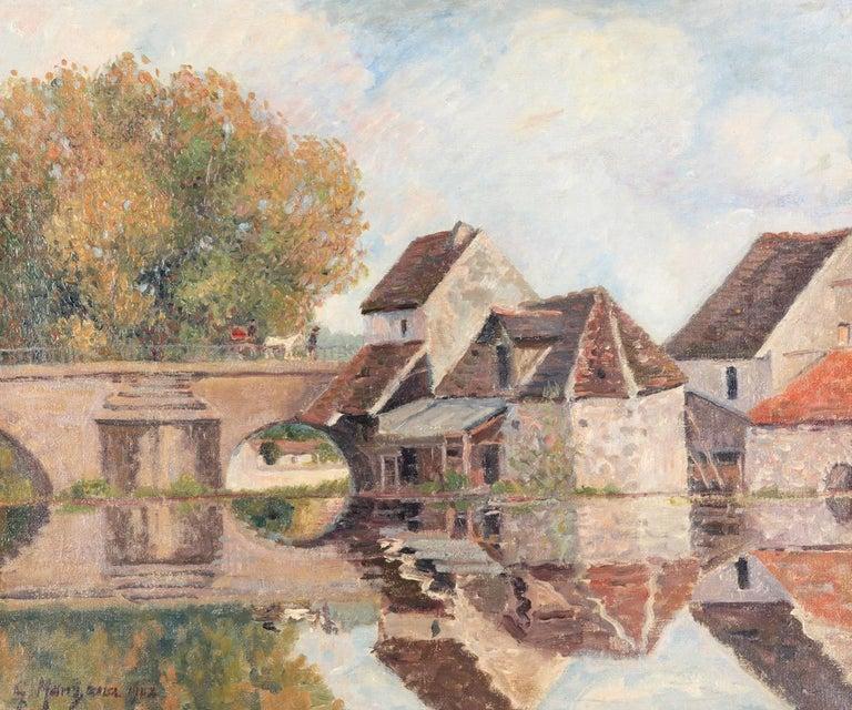 Georges Henri Manzana Pissarro Landscape Painting - Petit Lavoir du Pont Pierre, Morêt-sur-Loing by Georges Manzana Pissarro, 1902