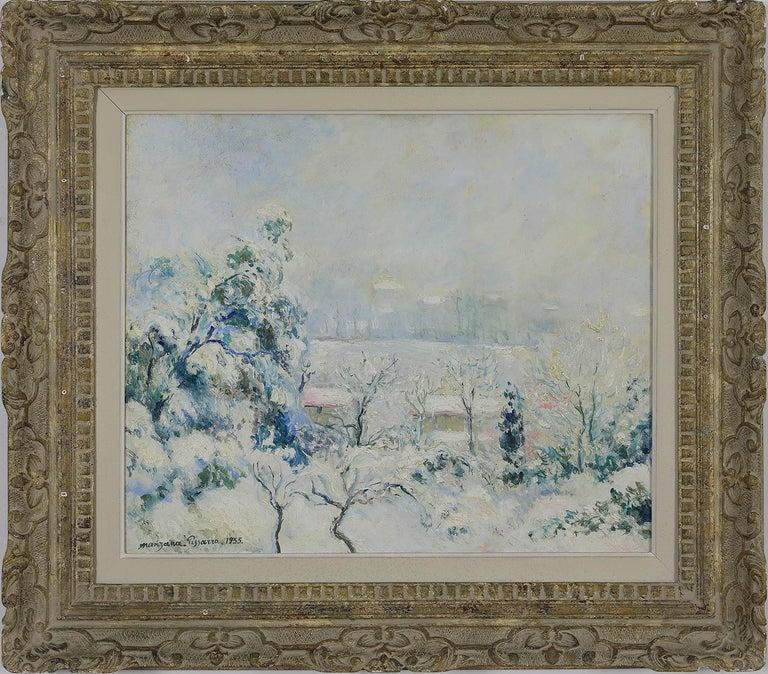 <i>Vue de Menton enneigée</i>, 1955, by Georges Henri Manzana-Pissarro