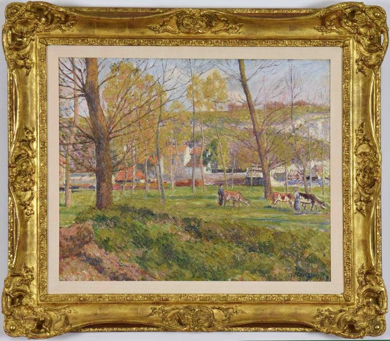 Un Paysage Pastoral - Painting by Georges Henri Manzana Pissarro