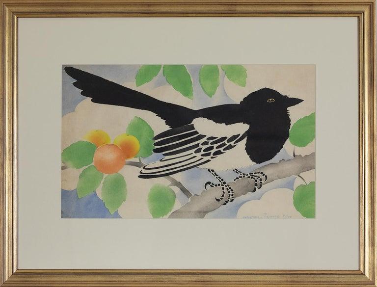 Magpie by Georges Henri Manzana Pissarro - Pochoir For Sale 1