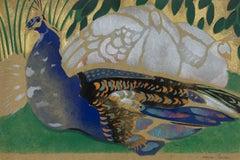 Peacock by Georges Manzana Pissarro - Animal pochoir, 20th century