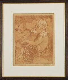 Print by Georges Manzana Pissarro 'La Bergère Turque' (The Turkish Shepherdess)
