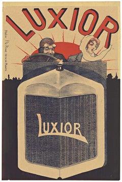LUXIOR Automobile early automotive original vintage poster