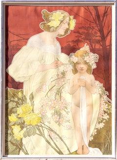 Palais de la Femme, Poster by Henri Privat-Livemont 1900