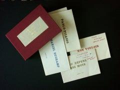 HUGNET, Georges. Complete set of 4 pamphlets. See Description.