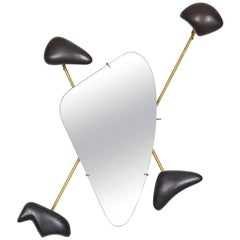 Georges Jouve Coat Rack with Mirror