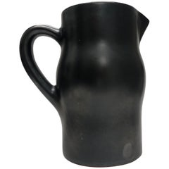 Georges Jouve Style French Ceramic Black Pitcher