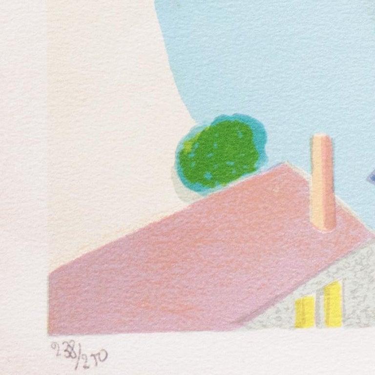 Falaise de l'Étretat  (France, Post-Impressionism, Modernism, Coast, blue) For Sale 3