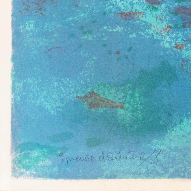Grau du Roi, Camargue   (France, Harbor, Atlantic, Post-Impressionism, blue) For Sale 4