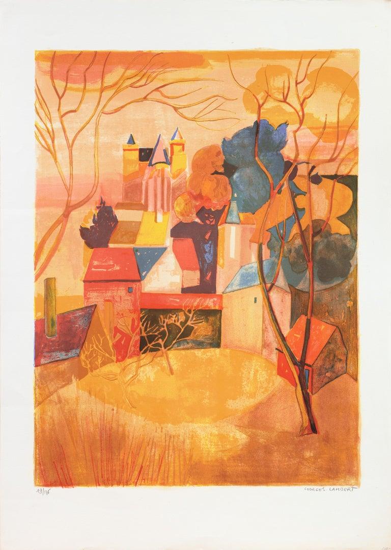 'Provençal Landscape', Academie Chaumiere, Salon des Artistes Francaises, Paris - Print by Georges Lambert