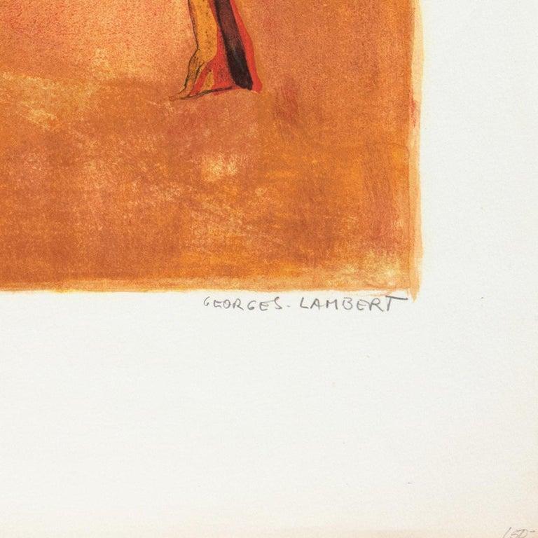 'Provençal Landscape', Academie Chaumiere, Salon des Artistes Francaises, Paris - Post-Impressionist Print by Georges Lambert