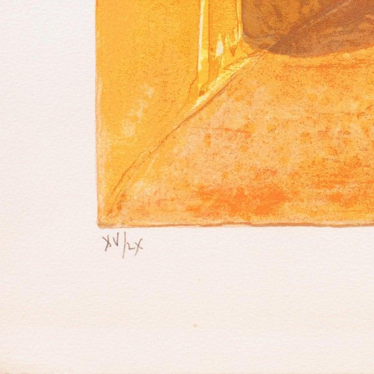 Provençal Landscape  (France, Post-Impressionism, Modernism, Rural, red, yellow) - Orange Landscape Print by Georges Lambert