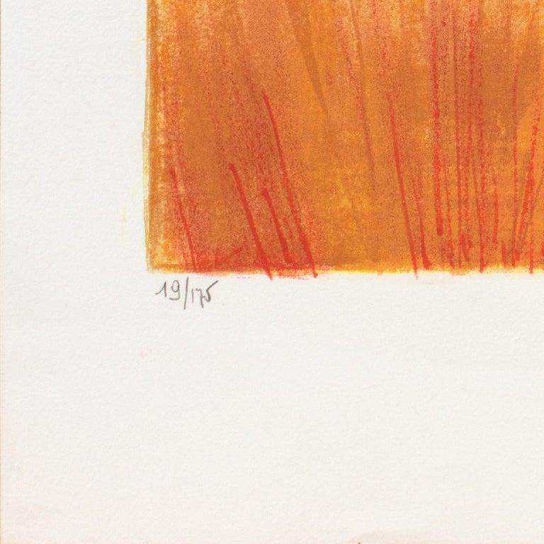 'Provençal Landscape', Academie Chaumiere, Salon des Artistes Francaises, Paris - Orange Landscape Print by Georges Lambert