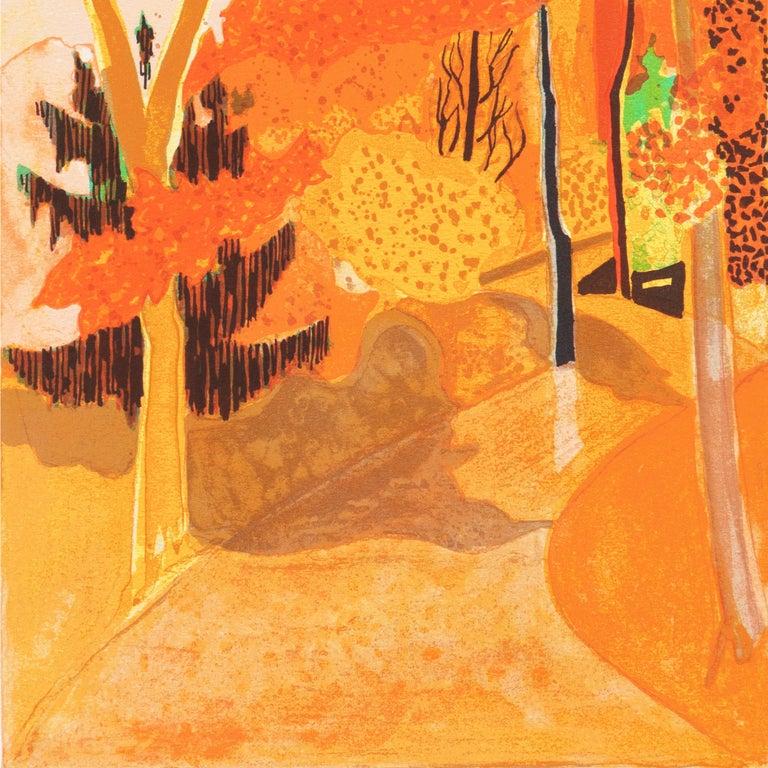 Provençal Landscape  (France, Post-Impressionism, Modernism, Rural, red, yellow) For Sale 1