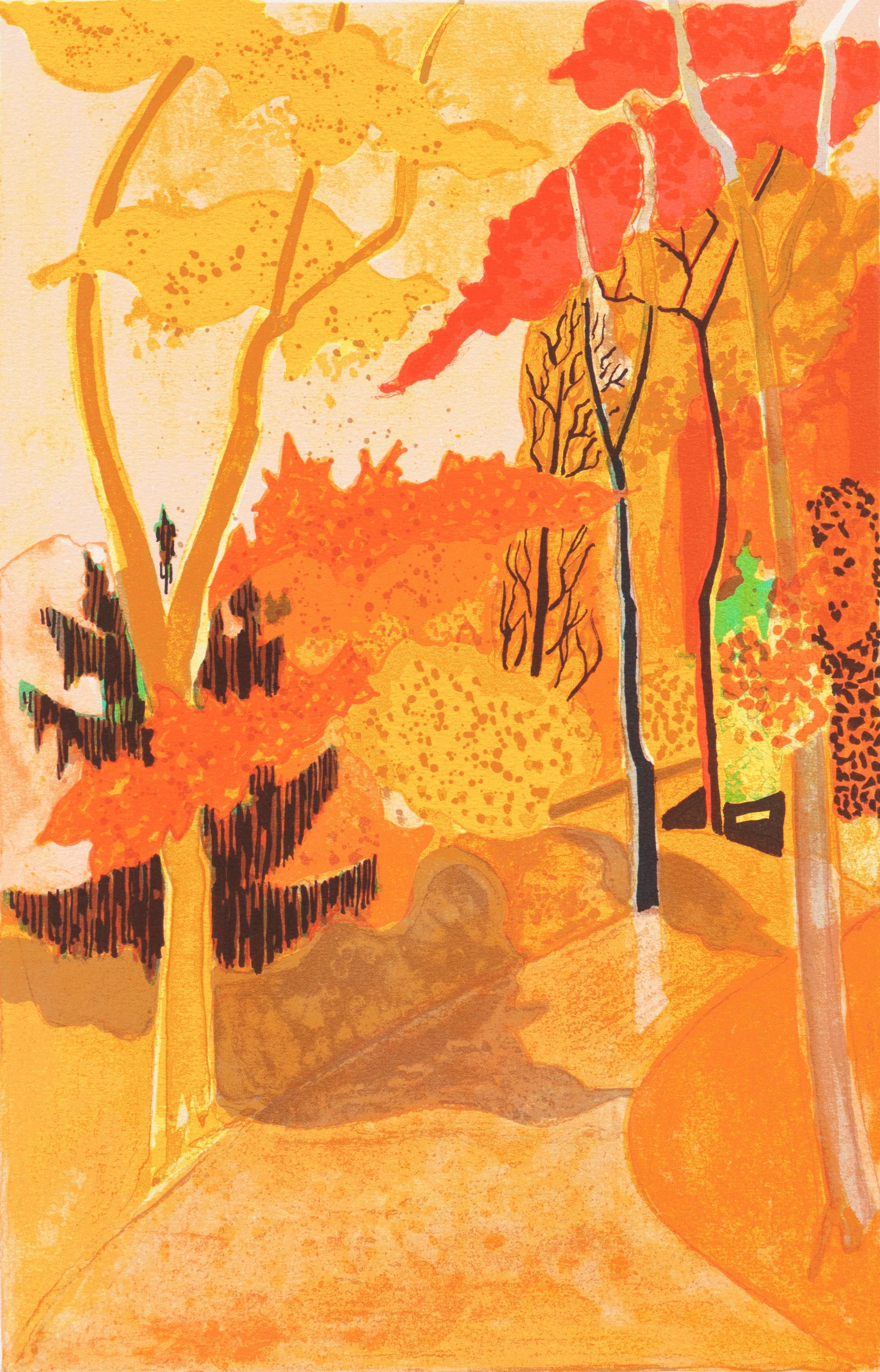 'Provençal Landscape', Post-Impressionist, Academie Chaumiere, Paris Salon