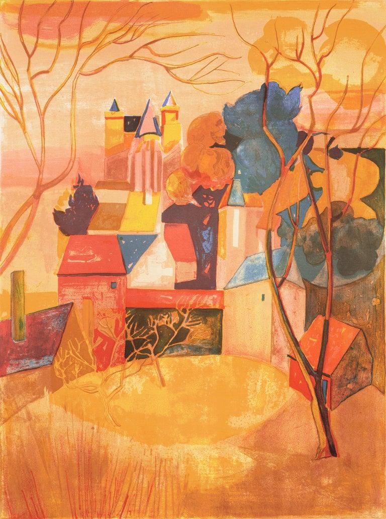 Georges Lambert Landscape Print - 'Provençal Landscape', Academie Chaumiere, Salon des Artistes Francaises, Paris