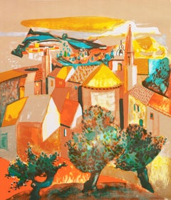 Village du Var, Côte d'Azur (France, Post-Impressionism, Modernism, ochre)