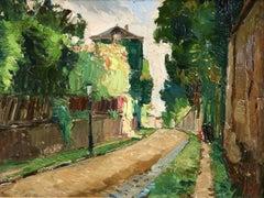 Vue de Montmartre - 20th Century Oil, French Landscape by Georges Lapchine