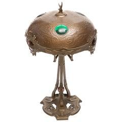 Georges Leleu Style Art Nouveau Table Lamp