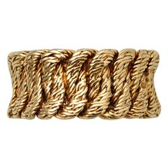 Georges Lenfant 18 Carat Gold Braided Ring