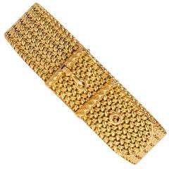 Georges Lenfant 1950s Gold Strap and Buckle Bracelet