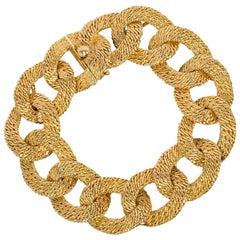 Georges L'Enfant for Cartier Woven Gold Flat Link Bracelet with Certificate
