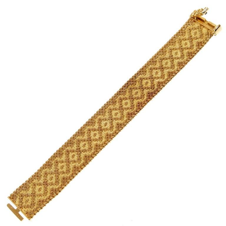 Modernist Georges L'Enfant Paris Vintage 1960s Gold Bracelet For Sale