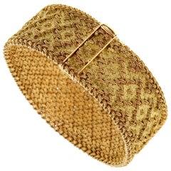 Georges L'Enfant Paris Vintage 1960s Gold Bracelet