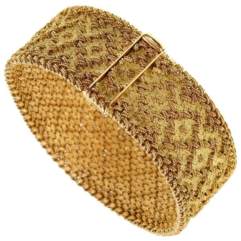 Georges L'Enfant Paris Vintage 1960s Gold Bracelet For Sale
