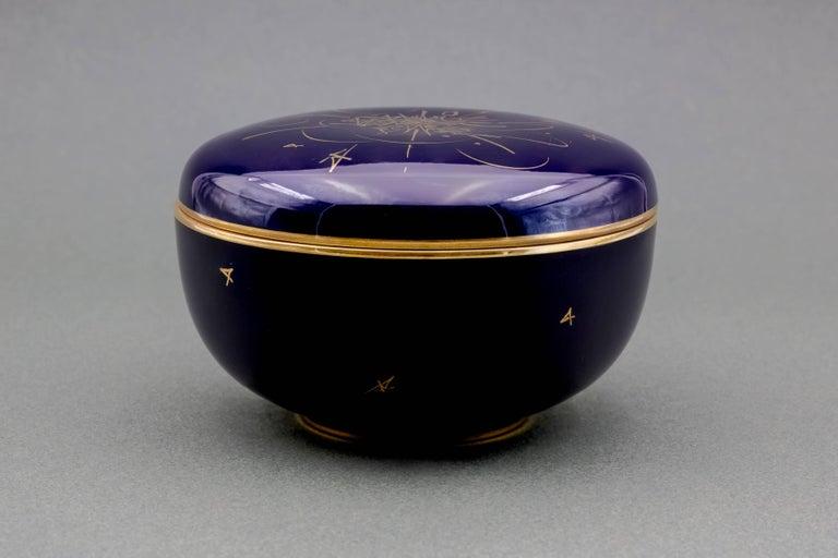 Mid-20th Century Georges Mathieu Candy Box for French Porcelaine de Sèvres Manufacture