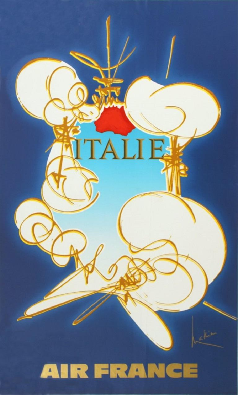 1971 After Georges Mathieu 'Air France: Italie' Contemporary France