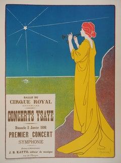 Goddess of Music - Lithograph (Les Maîtres de l'Affiche), 1895