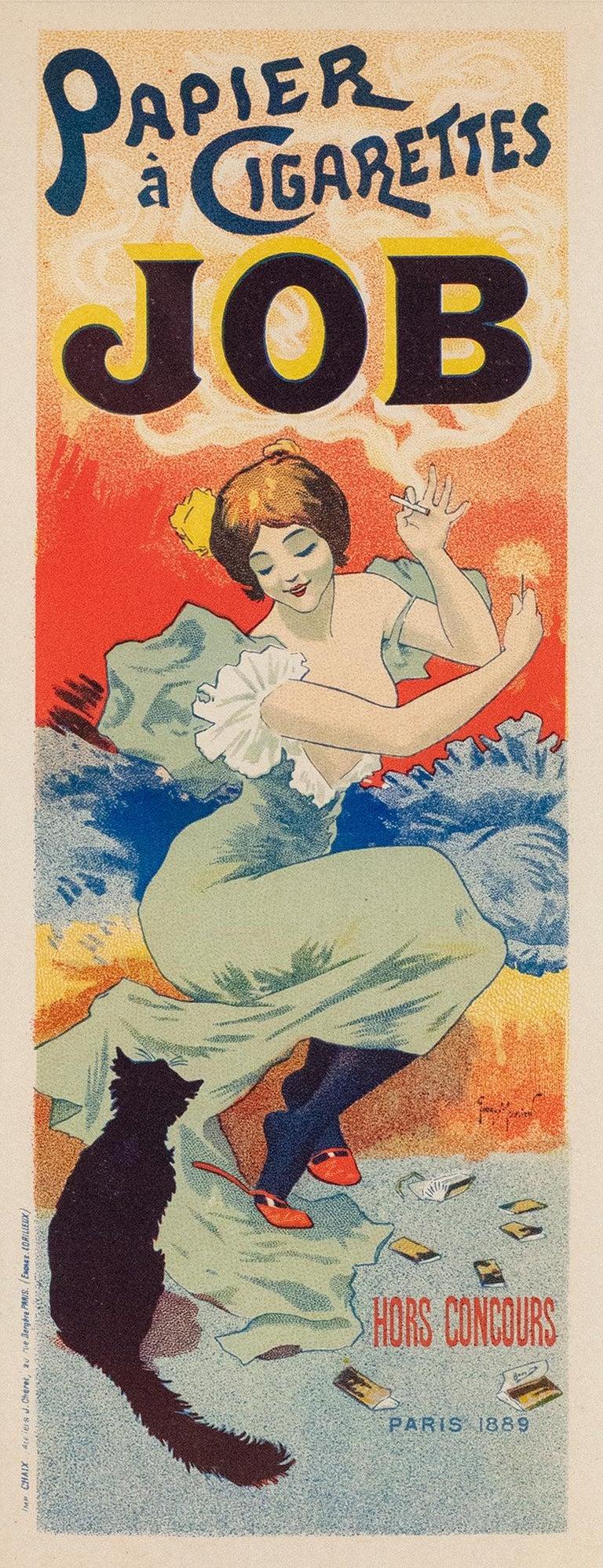 JOB Papier à Cigarettes by Georges Meunier, Belle Epoque lithograph, 1896 For Sale 1