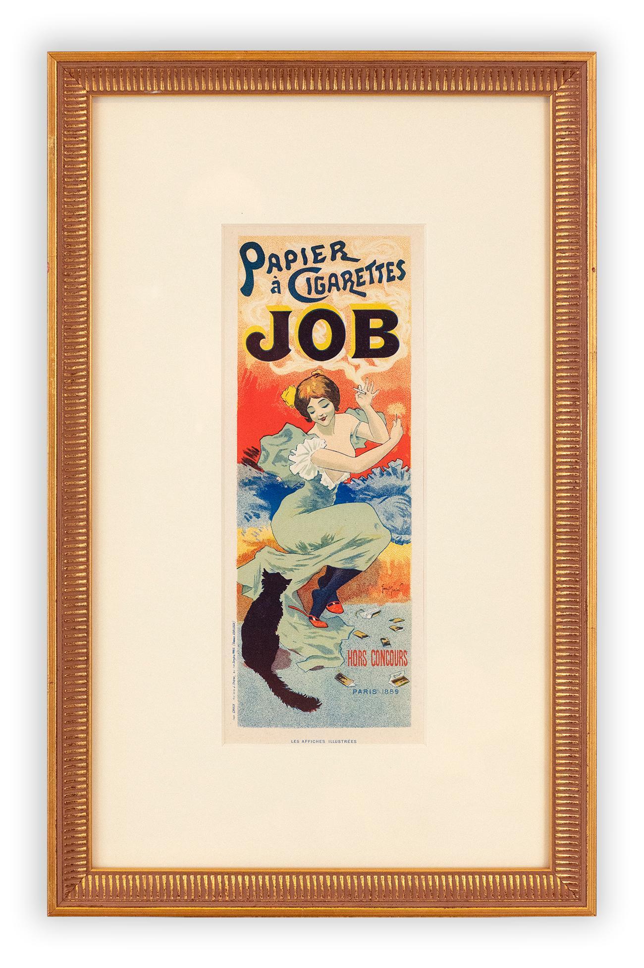 JOB Papier à Cigarettes by Georges Meunier, Belle Epoque lithograph, 1896