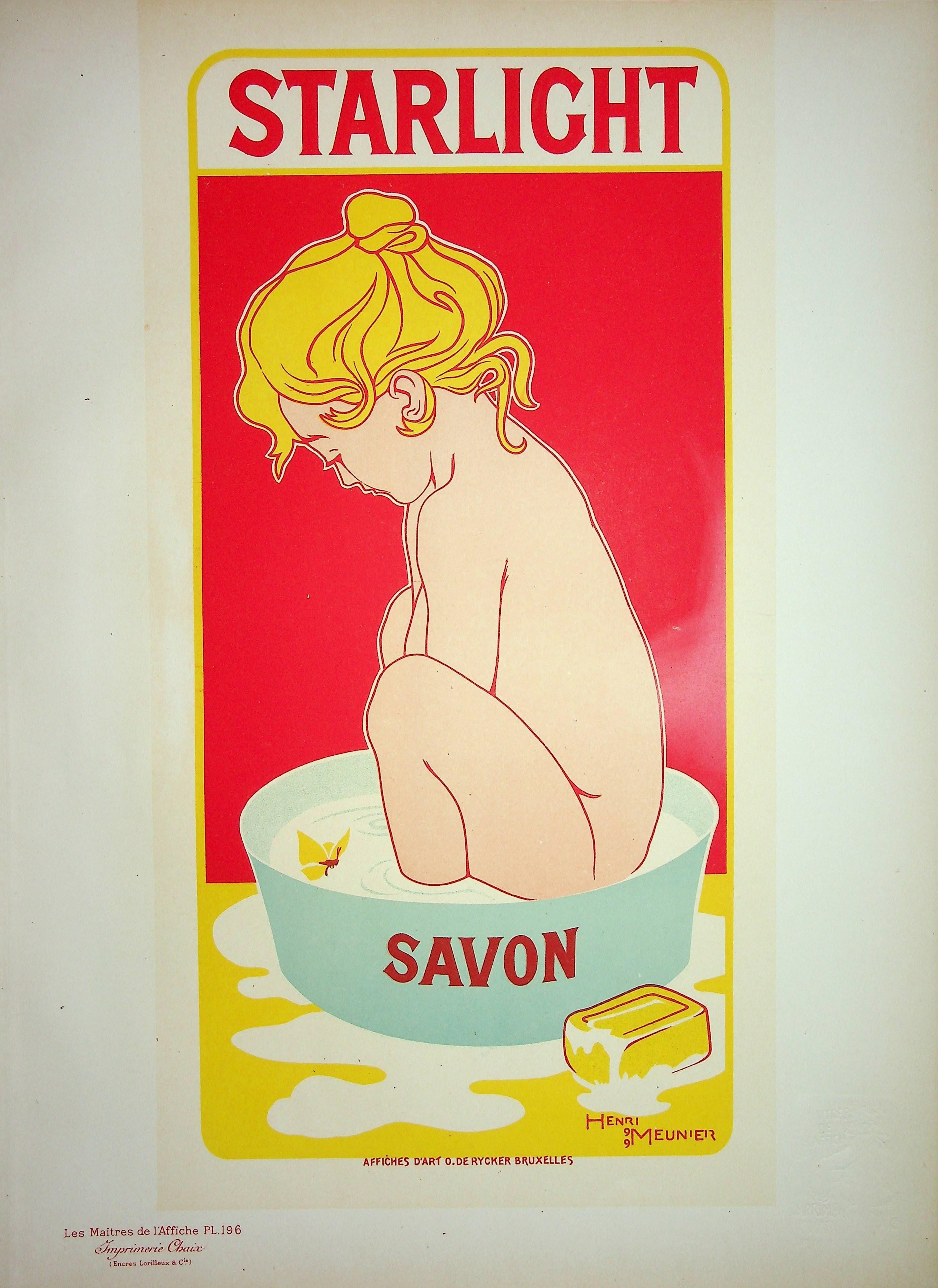 Starlight Soap - Original Lithograph (Les Maîtres de l'Affiche), 1900
