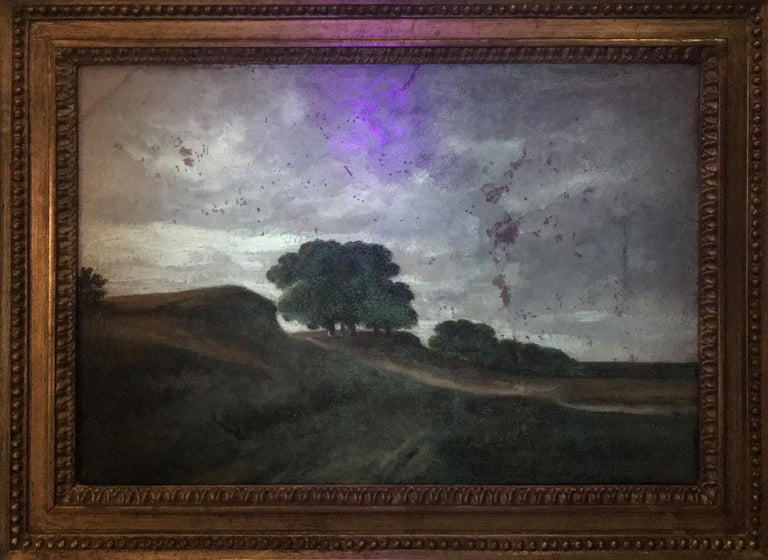 Paysage vallonné avec des arbres - Barbizon School Painting by Georges Michel