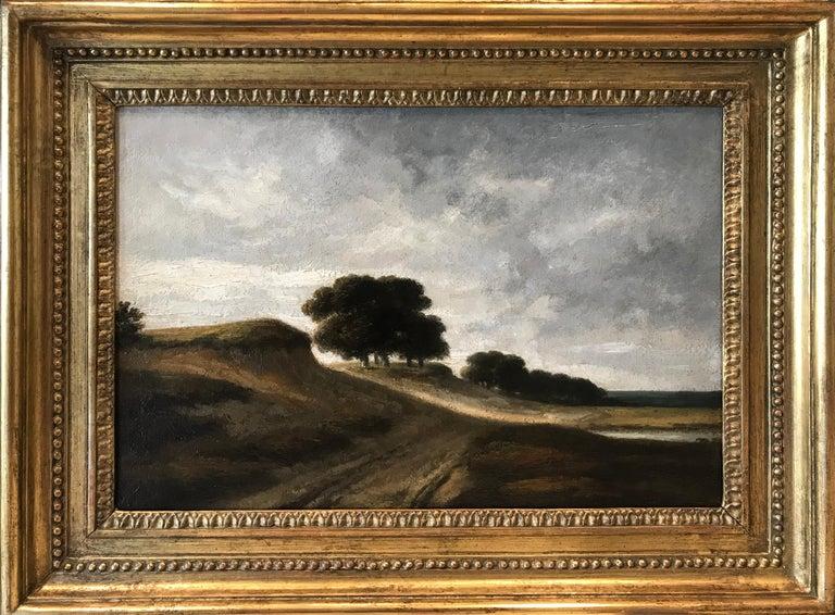 Georges Michel Landscape Painting - Paysage vallonné avec des arbres